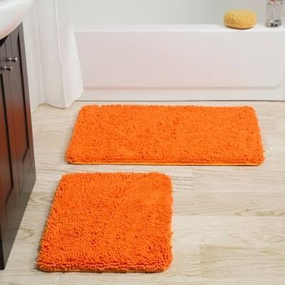 Orange Bath Rugs Google Search Black Bathroom Bath Bath Mat