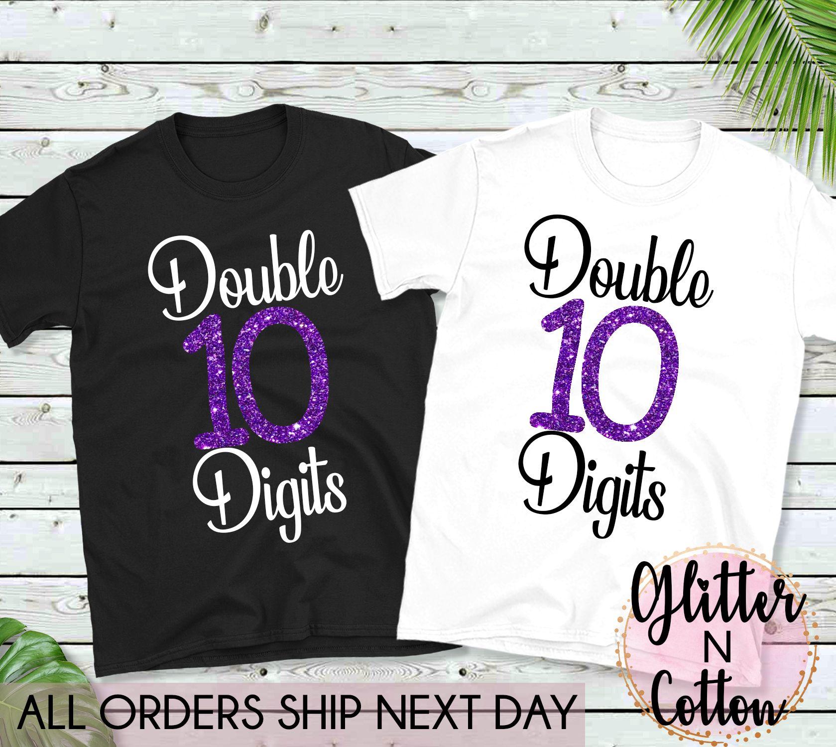ec441b2f 10th Birthday shirt for girls, custom printed shirts for women and girls