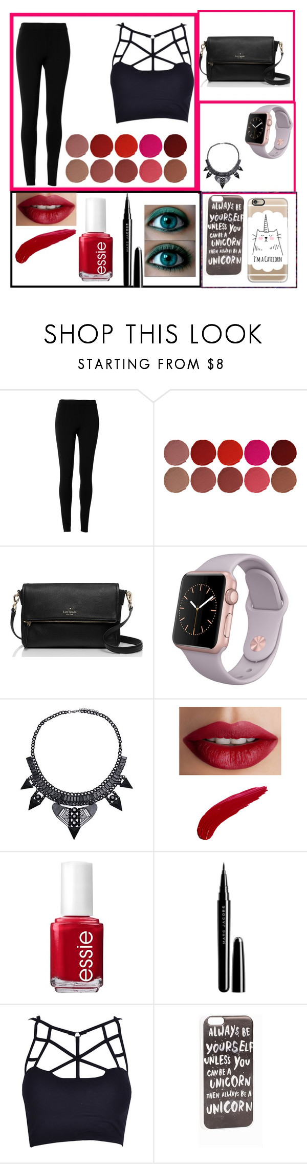 """""""Day in the life of audition"""" by justlilli-1 ❤ liked on Polyvore featuring Max Studio, Charlotte Tilbury, Kate Spade, TheBalm, Essie, Marc Jacobs, JFR and Casetify"""
