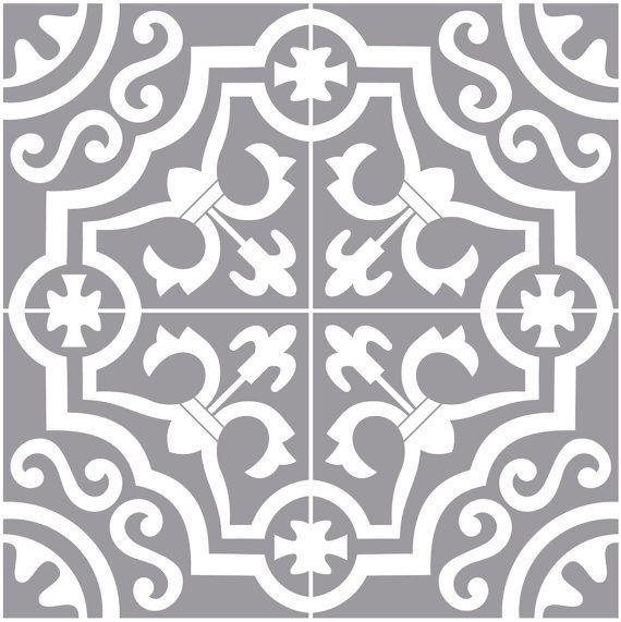 clearance 24 piece tile decals for kitchen bathroom back splash floor decals encaustic. Black Bedroom Furniture Sets. Home Design Ideas