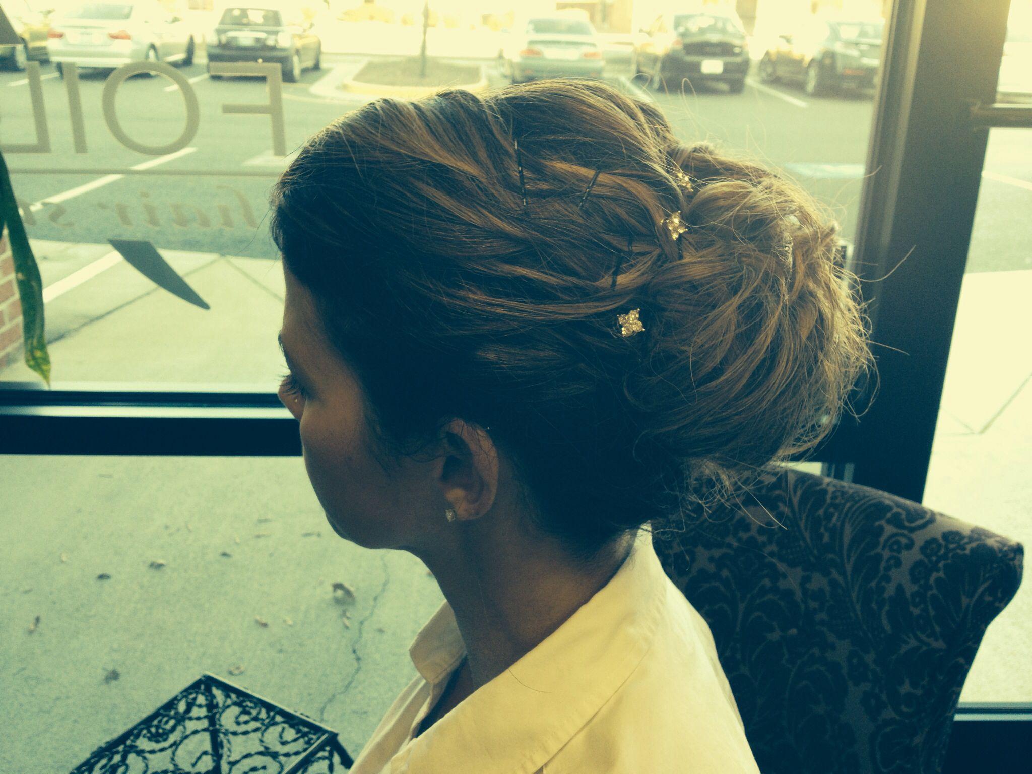 Updo by cybil.... Hair styles, Bella salon