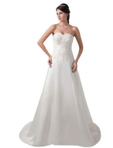 GEORGE BRIDE Classic Simple A-Line Strapless Beaded Satin Timeless Wedding Dress Size 18 White GEORGE BRIDE,http://www.amazon.com/dp/B00E9QMM8Y/ref=cm_sw_r_pi_dp_JL0Gsb0QS4WJEHMP