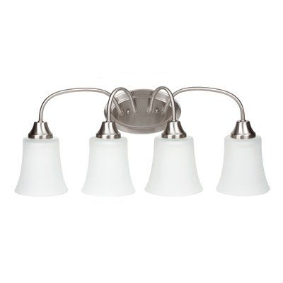 Sea gull lighting holman 4 light energy star title 24 bathroom vanity l brushed nickel indoor lighting vanity light
