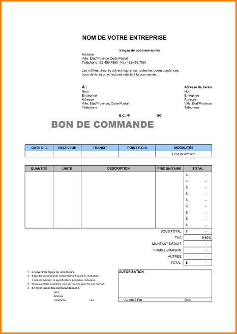 Modele Bon De Commande 27915 1 9 Modele Bon De Commande