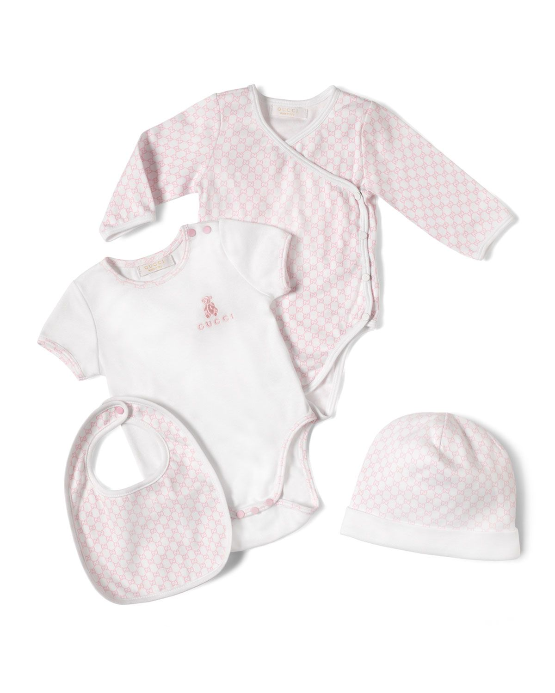 e9ed1dff4ba8c Gucci 4-Piece Baby Girl Gift Set