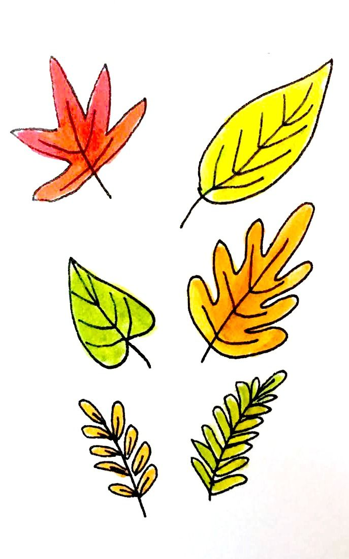 7 Ways To Draw Fall Leaves Fall Leaves Drawing Fall Drawings