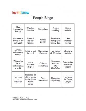 Bingo Game Board Template People bingo, Bingo games and Game boards
