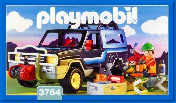 Playmobil Set 3764 Pickup 4x4 Playmobil Camping Gear 4x4 Trucks
