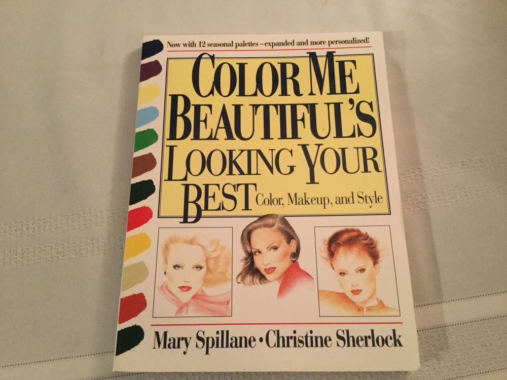 color me beautiful looking your best color makeup style spillane sherlock book ebay - Color Me Beautiful Book