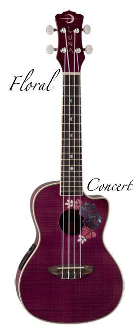 luna guitars - Luna Floral Concert Ukulele