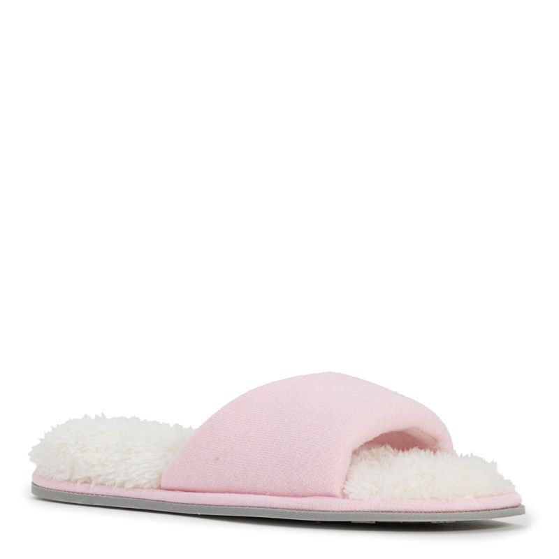 Dearfoams Women's Casual Knit Twist Vamp Scuff Slipper Accessories (Fresh Pink) - 18.0 M