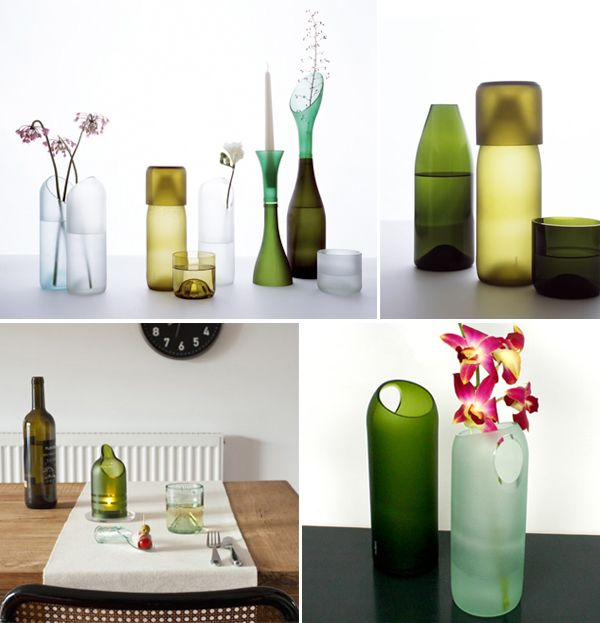 Wine bottles are a great material for diy a wine bottle for Wine bottle material