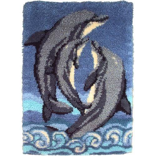 Caron Wonderart 27 215 40 Latch Hook Kit Dolphins Dolphins