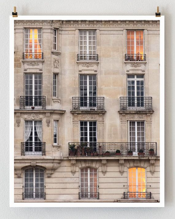 Paris Architecture, Ile Saint Louis, Paris Photography, Brown, Tan, Coral Paris Decor, Paris Windows