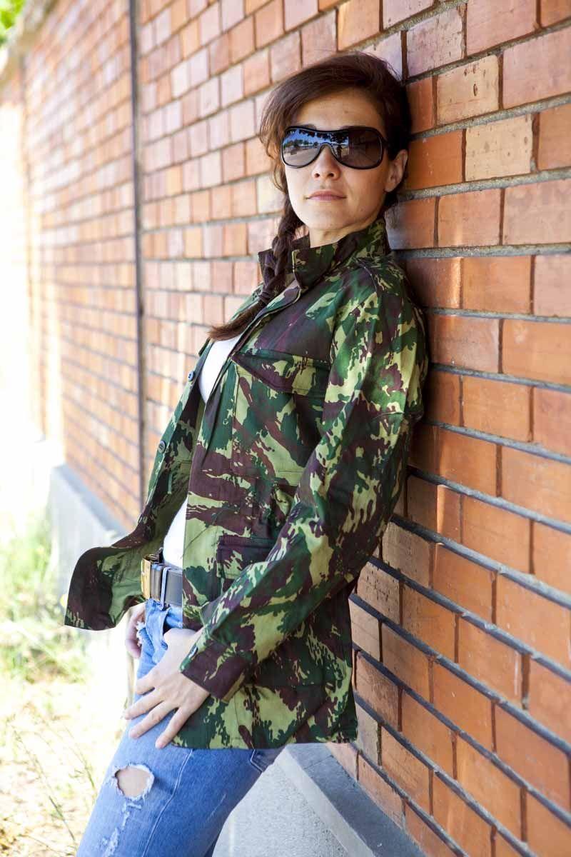 Militaire Armée urbain CHEMISE VINTAGE VESTE CAMOUFLAGE CAMO femmes F2 femmes