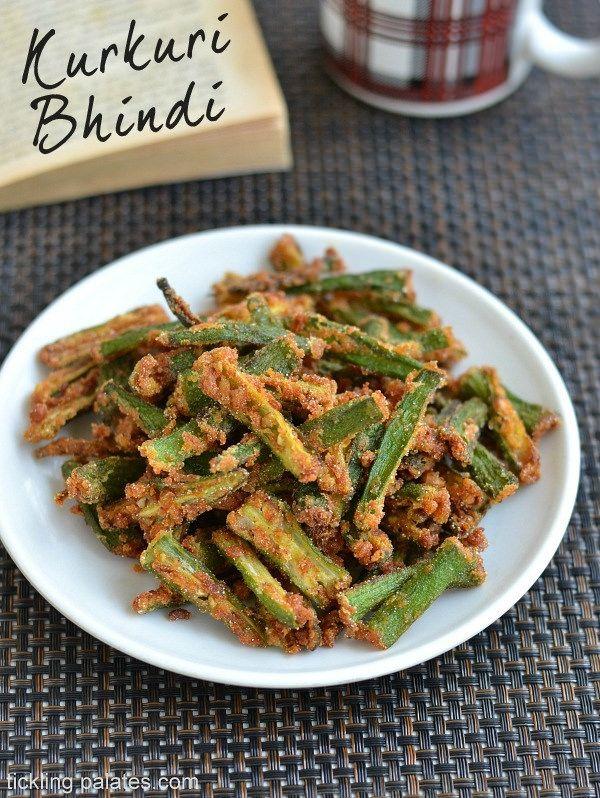 Kurkuri Bhindi Recipe Crispy Bhindi Fry Recipe Okra Recipes