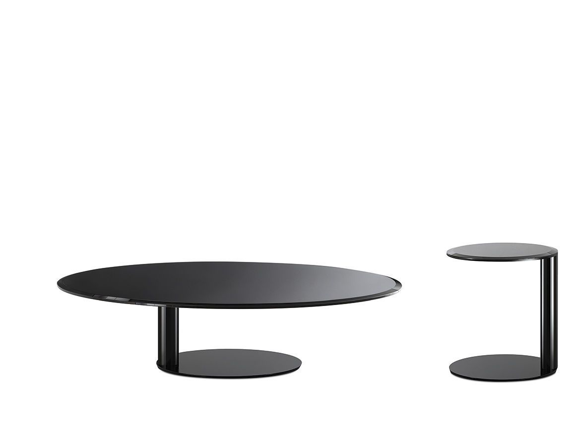 Coffee table contemporary lacquered metal glass oto