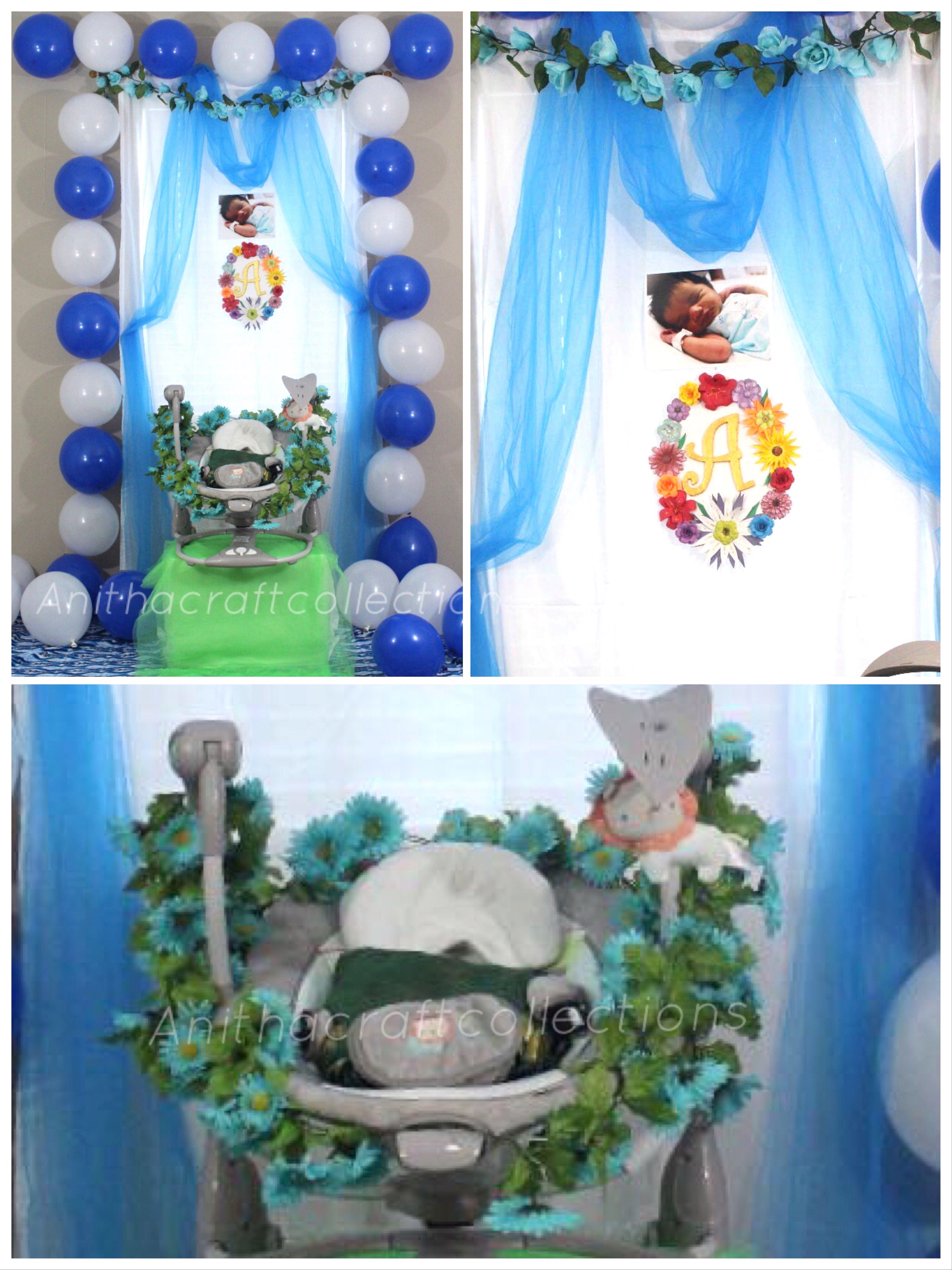 Simple Cradle Ceremony Decoration At