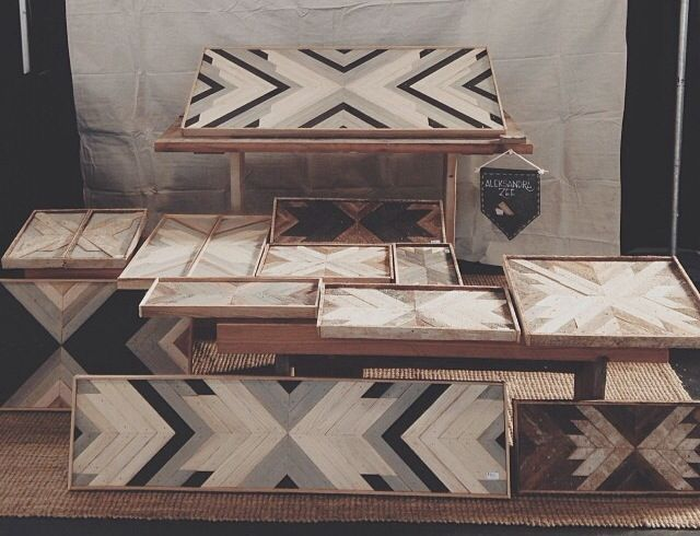 see previous chevron design pallet coffee table paint like so