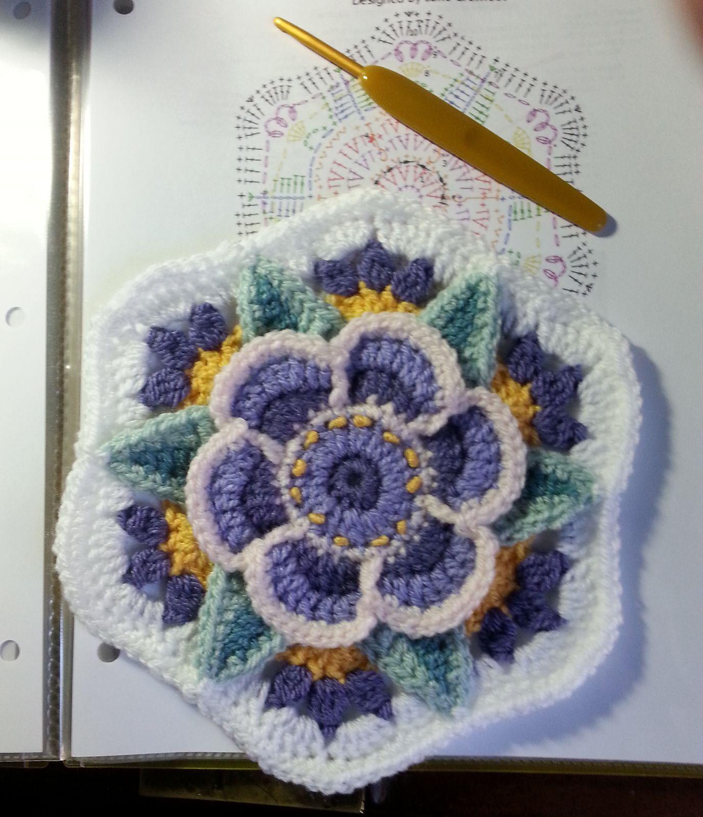 Photo of Frida's Flowers Blanket pattern by Jane Crowfoot