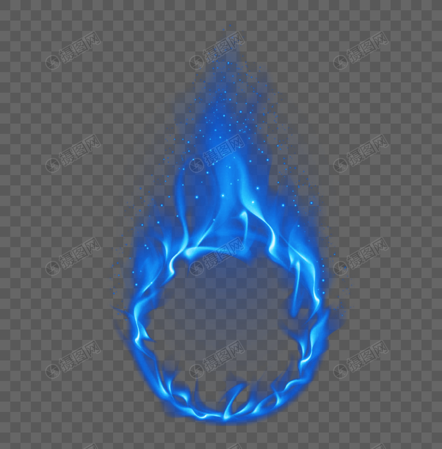 Blue Ice Fire Circle Element Blue Ice Flame Smoke Ice Smoke Elements Template Design Design Ice Blue