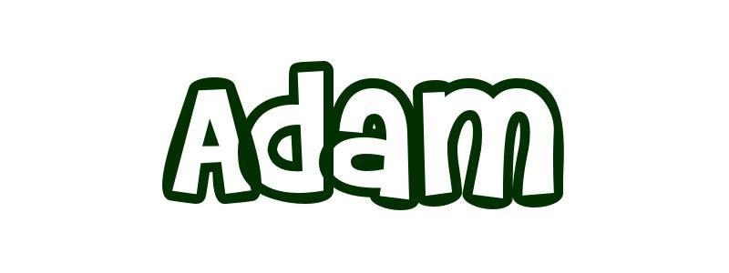 Coloriage prénom Adam