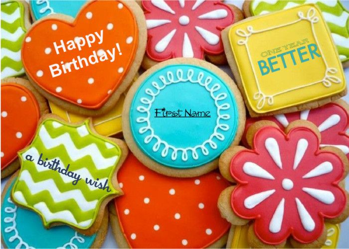 Birthday cards in shape of cookies One year BETTER How to send