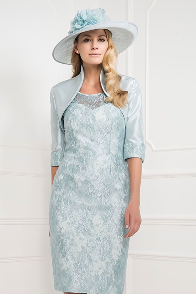 John Charles short lace dress with bolero jacket 74145 - Catherines ...