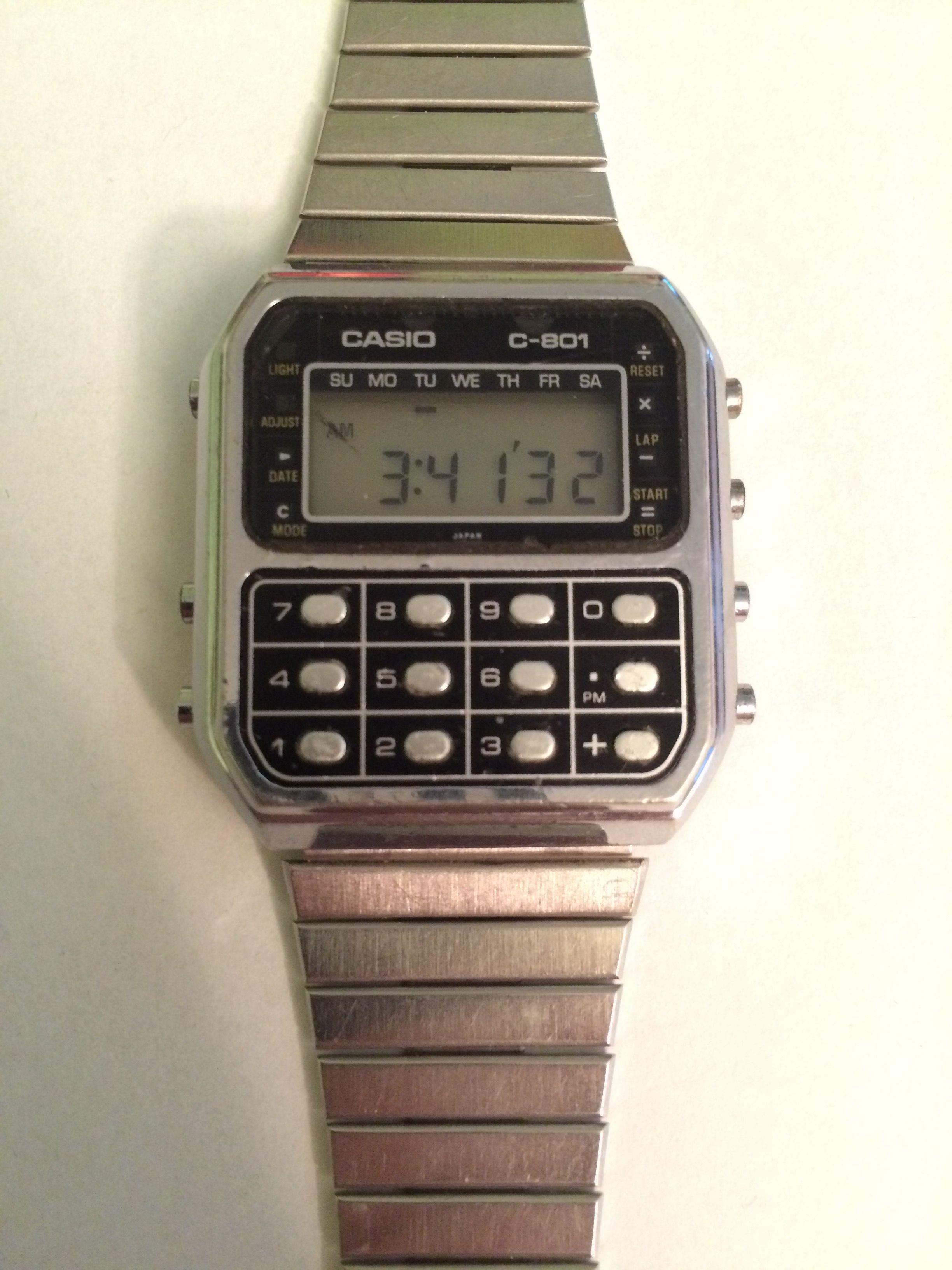 Casio C 801 (1980) | watches vintage lcdled en 2019