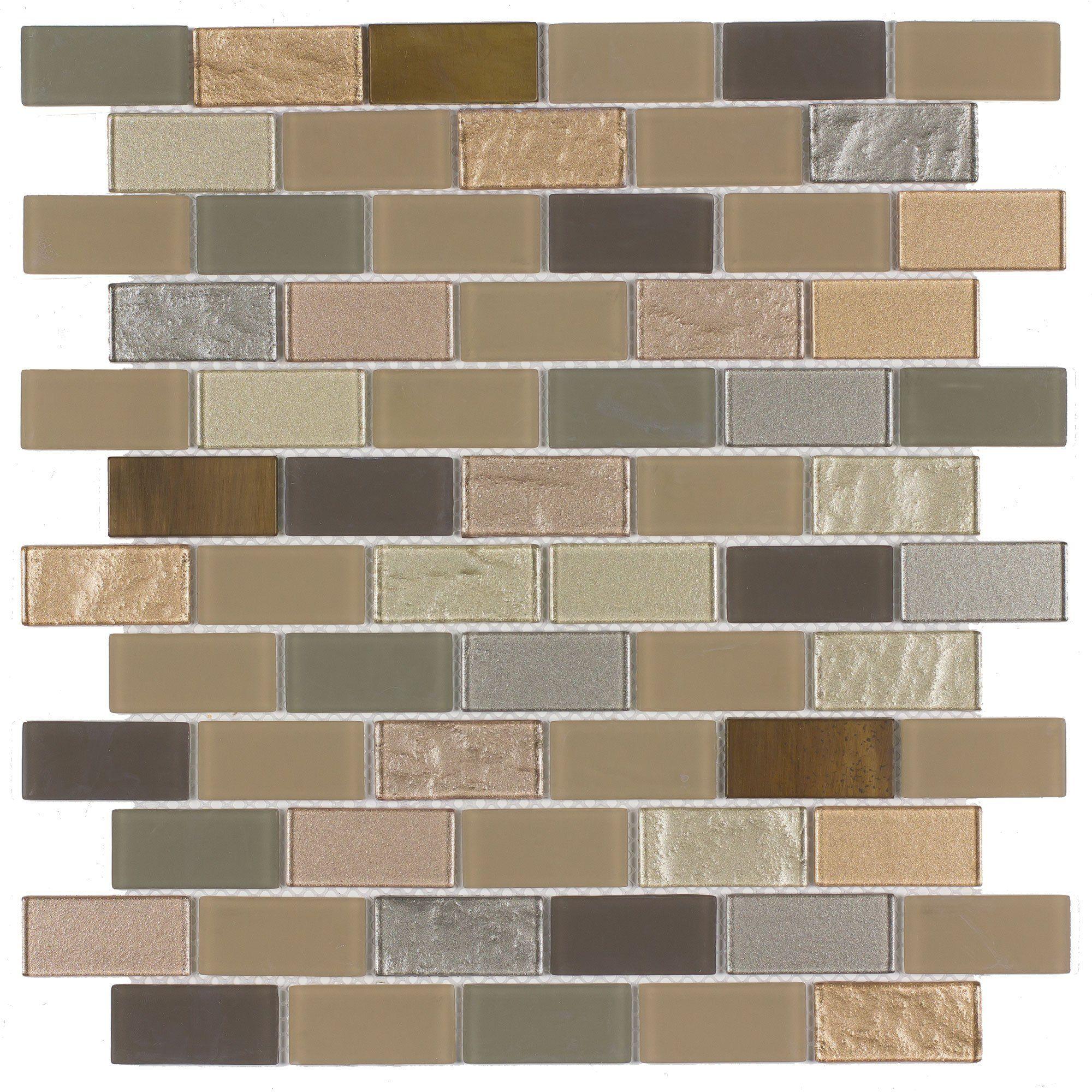 Mto0290 Linear Brick Brown Gray Multi Finish Glass Metal Mosaic Tile In 2020 Metal Mosaic Tiles Metallic Wall Tiles Mosaic Wall Tiles