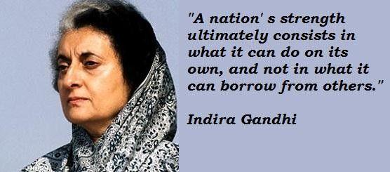 Indira Gandhi Quotes Google Search Quotable Quotes Gandhi