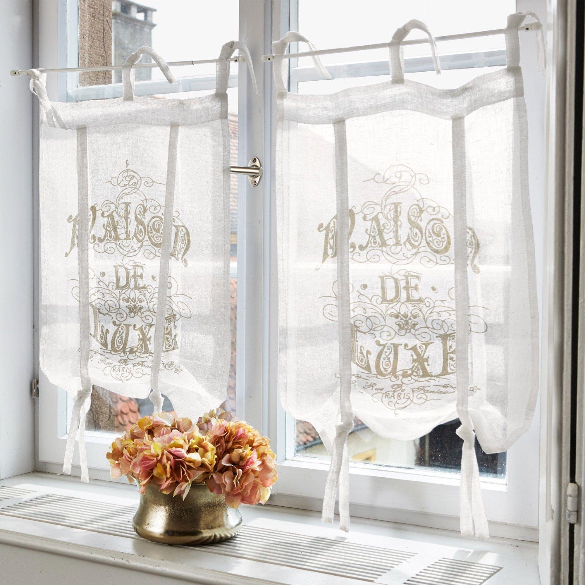 Shabbychic Scheibengardine Luxe In 2020 Shabby Chic Bathroom Home Curtains Curtains