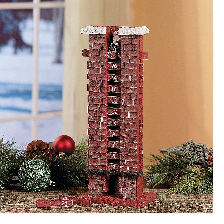 Santa In Chimney Countdown Calendar Orientaltrading Com