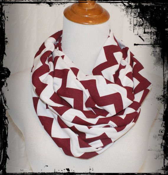 Ready to Ship Jersey Knit Maroon & White Chevron by AmyAnneApparel ...