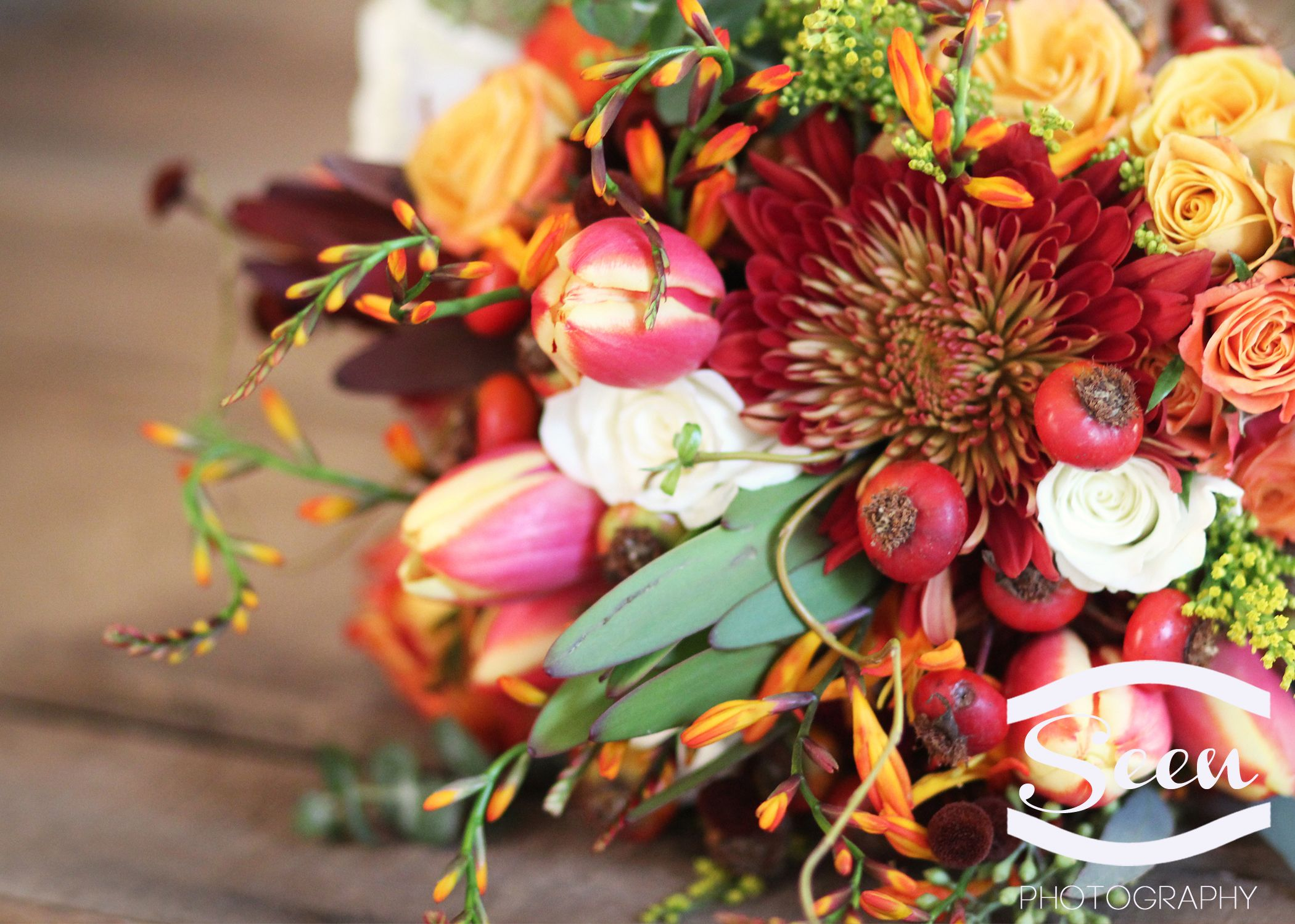 Autumn Themed Bridal Bouquet By Whole Foods