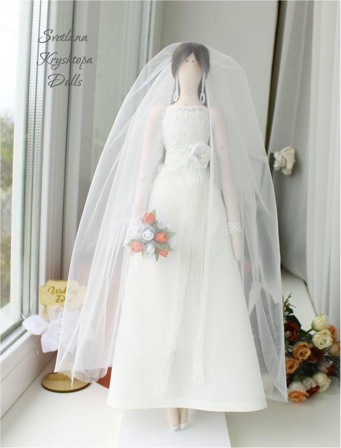 Bride tilda textile doll. Wedding handmad doll #bridedolls