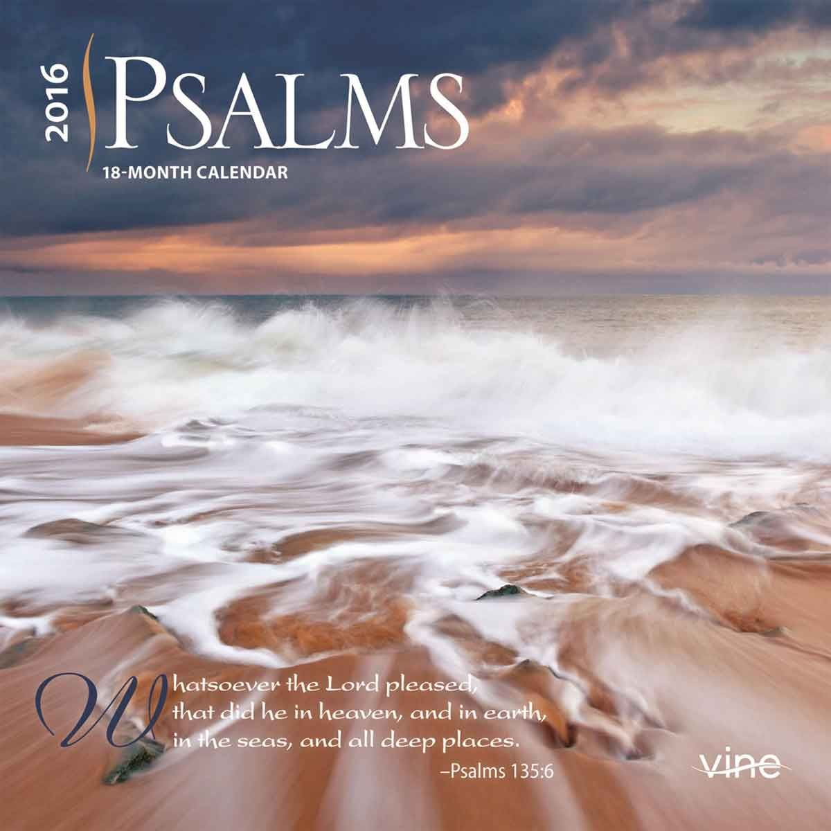 Psalms mini calendar calendars pinterest