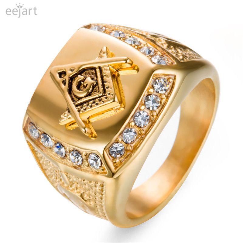 Eejart Stainless Steel Freemason Ring Men S Masonic Rings For Men