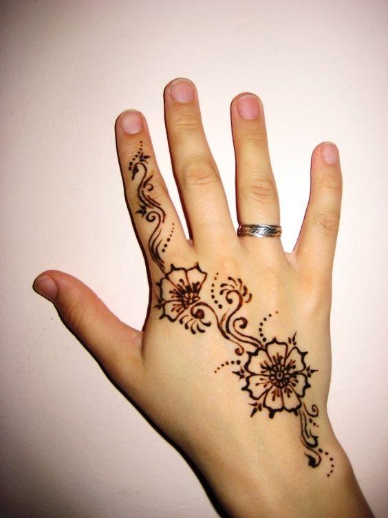 henna flower for beginners. Black Bedroom Furniture Sets. Home Design Ideas