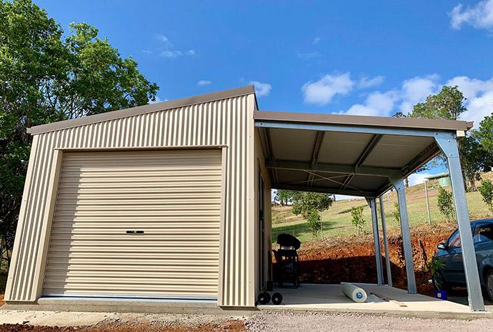 Skillion Roof Garages For Sale ShedSafe® Accredited