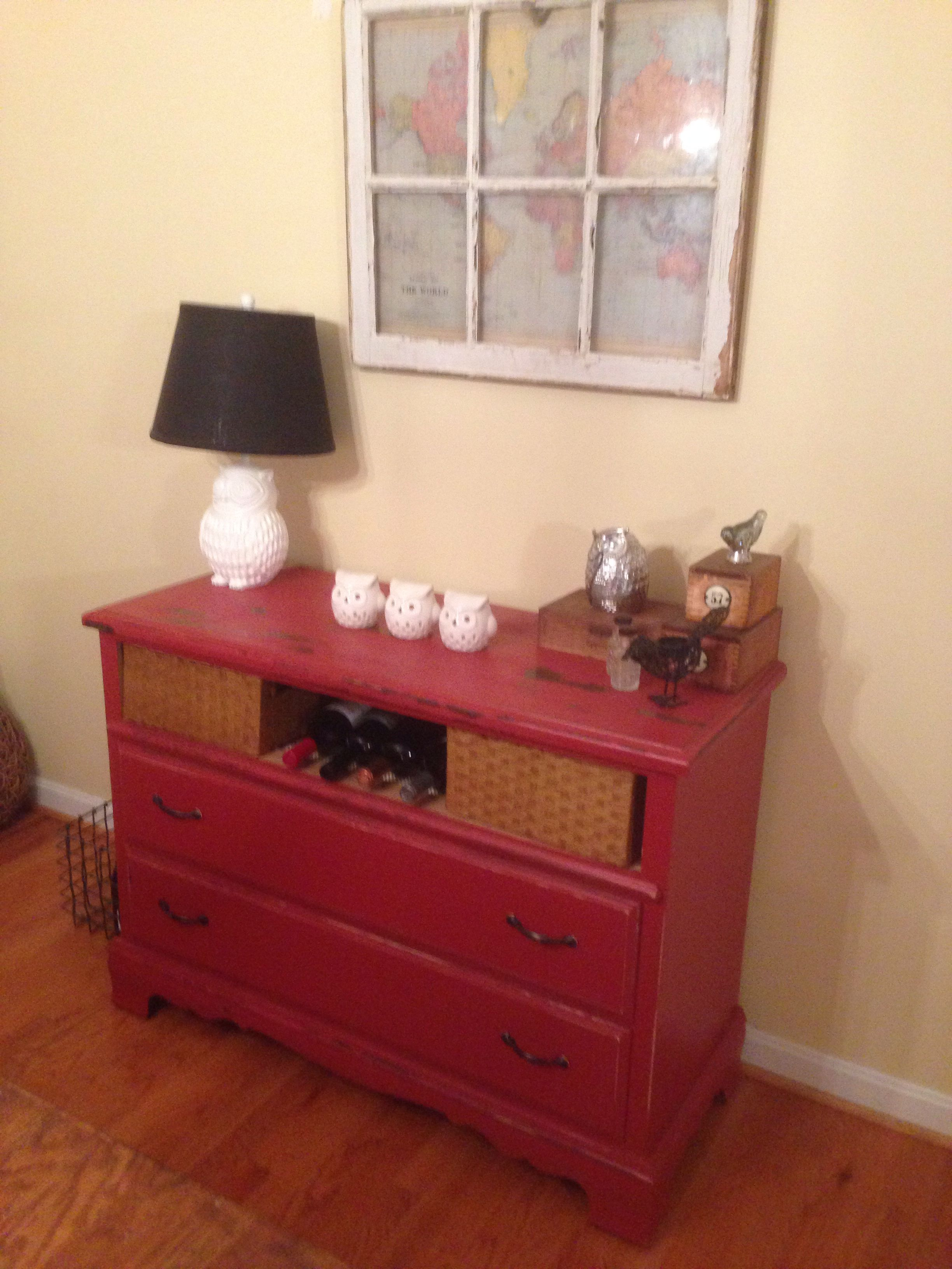 Repurposed dresser adds storage to dining room! | DIY ...