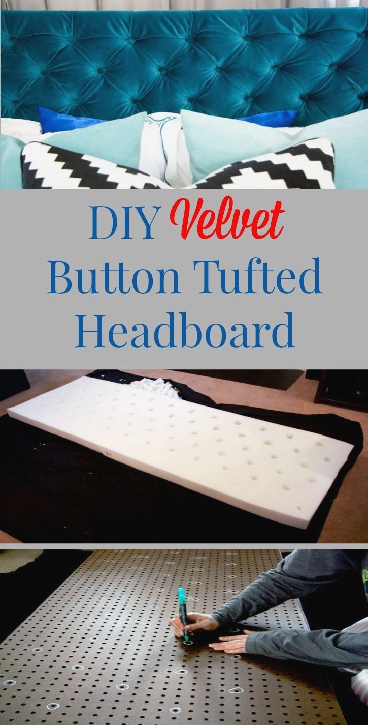 DIY Projects to Try | Diy tufted headboard, Diamond tufted ...