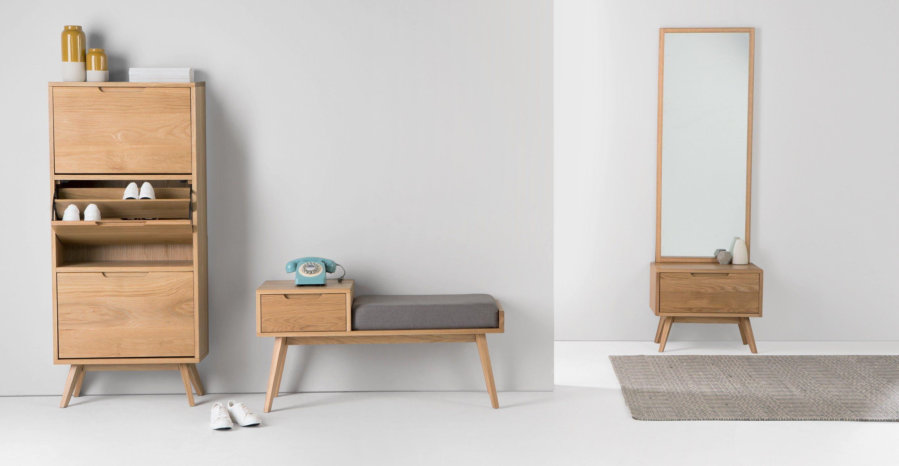 Jenson Bank mit Stauraum, Eiche | Stauraum, Bänke und Modernes design