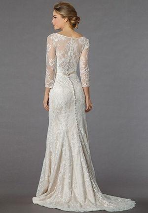 Bridal Gowns: Danielle Caprese Mermaid Wedding Dress with High Neck ...