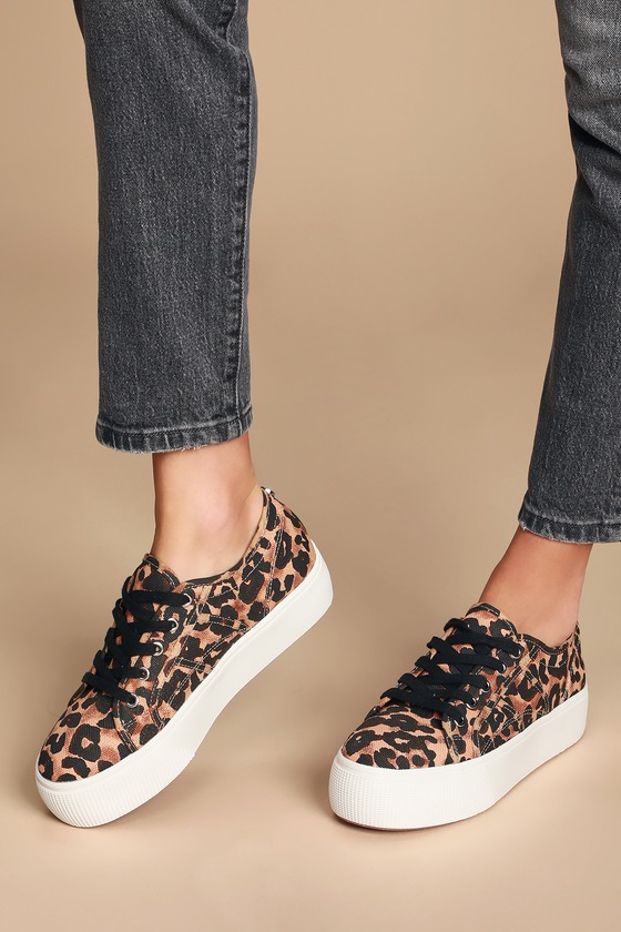 Emmi Leopard Print Platform Sneakers