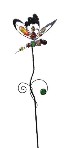 Glass and metal dragonfly garden stakes Wish List Pinterest