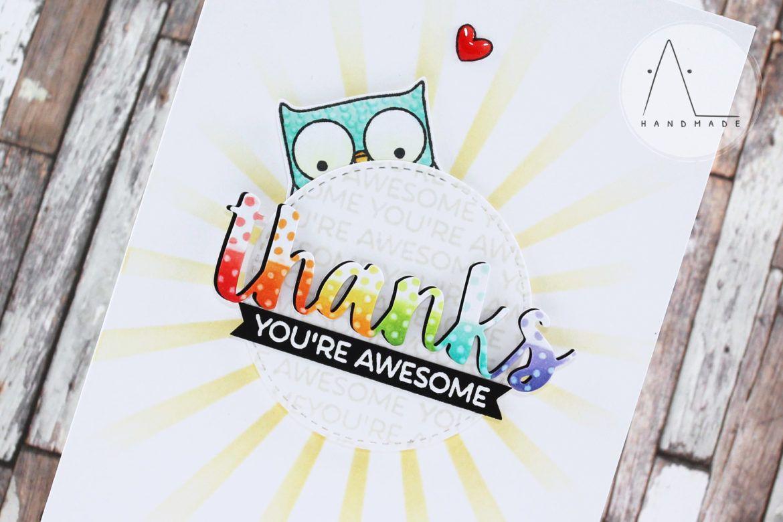clean  simple rainbow thanks  cards handmade cards rainbow