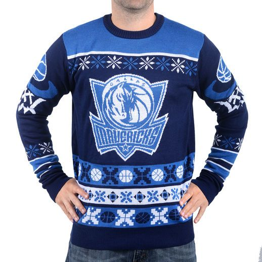 Dallas Mavericks Navy Thematic Ugly Christmas Sweater | Sports ...
