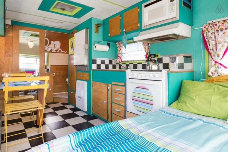 int rieur de caravane comment l 39 am nager caravane int rieur et caravanes vintage. Black Bedroom Furniture Sets. Home Design Ideas