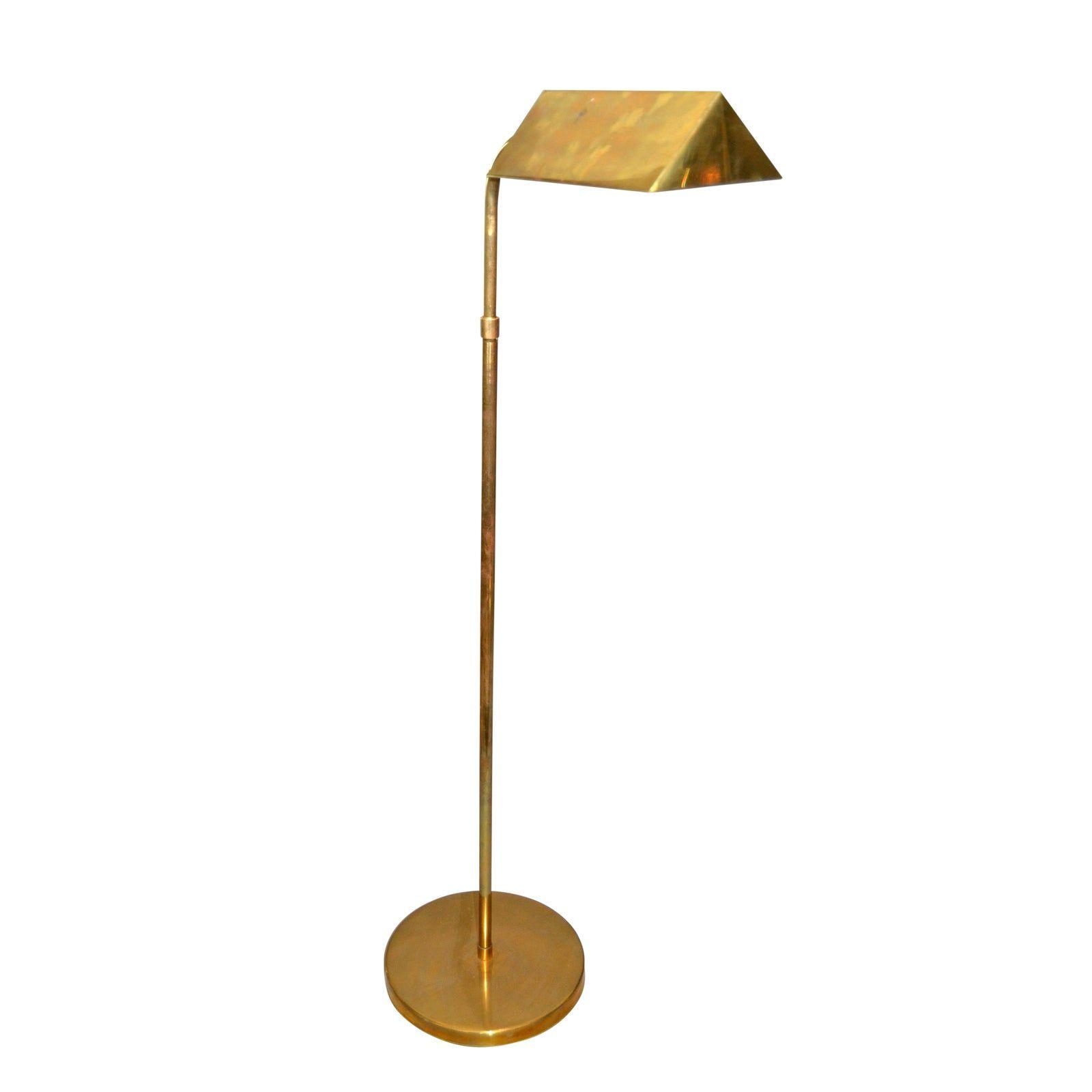 American Vintage Brass Floor Or Reading Lamp Chairish Lamp Reading Lamp Floor Lamp